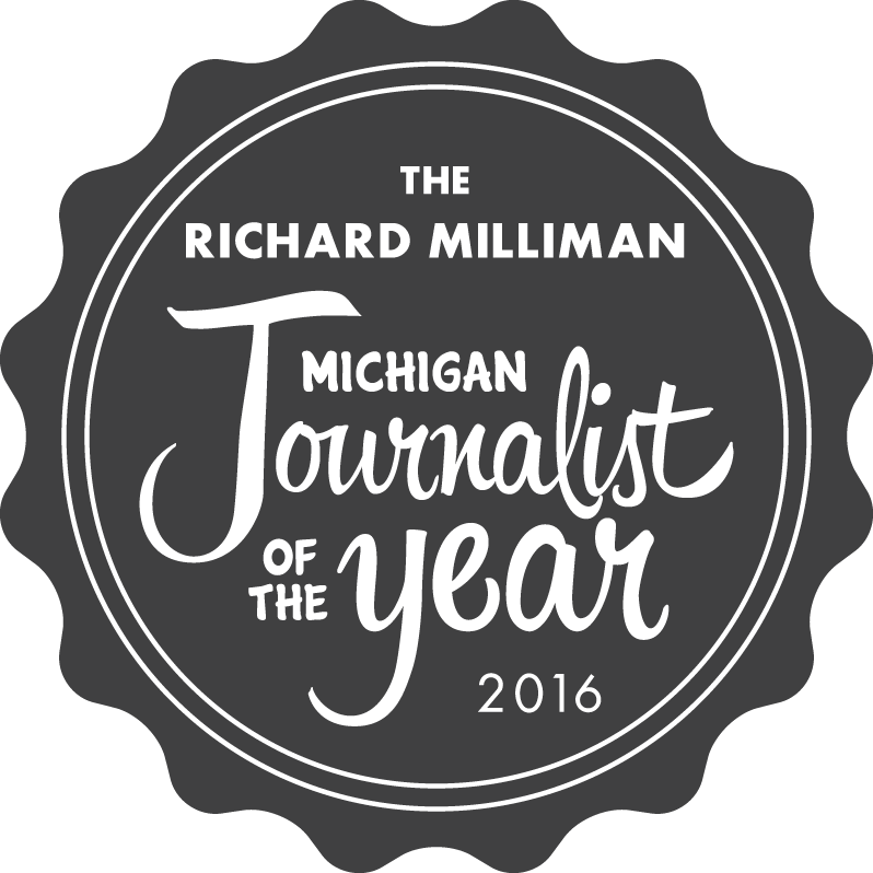 2016 Michigan Journalist of the Year Award Symbol